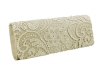Papaya Fashion Lace Pattern Evening Bag in Beige