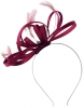 Failsworth Millinery Satin Loops Aliceband Fascinator in Berry