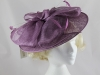 Failsworth Millinery Saucer Headpiece in Berry