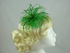 Biots and Beads Fascinator in Green
