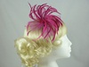 Biots and Beads Fascinator in Pink / Cerise