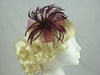 Biots and Beads Fascinator in Burgundy