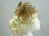 Biots and Beads Fascinator in Latte