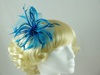 Biots and Beads Fascinator in Turquoise