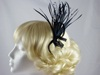 Rara Avis Millinery Sinamay Loops and Biots Fascinator in Deep Navy