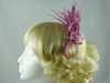 Rara Avis Millinery Sinamay Loops and Biots Fascinator in Pink