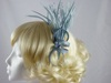 Rara Avis Millinery Sinamay Loops and Biots Fascinator in Silver