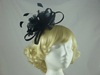 Feather and Sinamay Loops Fascinator in Black