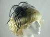 Aurora Collection Large Flower Fascinator in Black