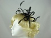 Fascinator with Loops and Gem in Black