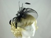 Loops and Veil Fascinator in Black