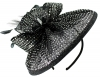 Failsworth Millinery Sequined Disc Headpiece in Black-Silver