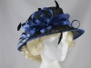 Elegance Collection Sinamay Loops Wedding Hat in Black & Cobalt