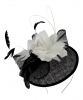 Failsworth Millinery Quills Disc Headpiece in Black & Ivory