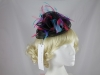Elegance Collection Crin Headpiece in Black & Multi