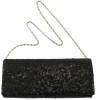 Elegance Collection Evening Bag in Black Sequins