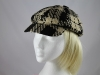 Victoria Ann Fashion Cap in Black & Tan