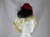 Failsworth Millinery Flower Pillbox in Black & Tulip