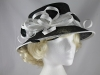 Elegance Collection Sinamay Loops Wedding Hat in Black and White