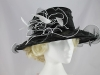 Failsworth Millinery Organza Occasion Hat in Black and White