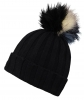 Alice Hannah Kimberley Multi Bobble Ski Hat in Black
