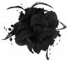Aurora Collection Flower Fascinator in Black