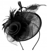 Aurora Collection Rose and Feather Disc in Black