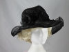 Collapsible Wedding Hat in Black