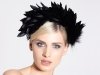 Deb Fanning Millinery Feathered Headpiece in Black