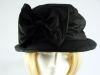 Debenhams Hat Box Black Silk Occasion hat