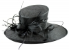 Elegance Collection Ascot Hat in Black