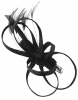 Elegance Collection Loops Clip Fascinator in Black