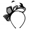 Elegance Collection Sinamay Loops and Feathers Fascinator in Black