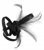Elegance Collection Small Loops Clip Fascinator in Black