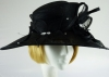 Failsworth Millinery Ascot hat Black diamontes