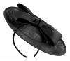 Failsworth Millinery Bow Disc in Black
