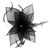 Failsworth Millinery Diamante Organza Fascinator in Black