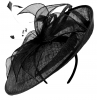 Failsworth Millinery Events Disc Headpiece in Black