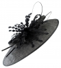 Failsworth Millinery Ascot Feathers Disc in Black