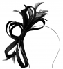 Failsworth Millinery Fascinator with Diamantes in Black