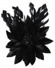 Failsworth Millinery Feather Flower Fascinator in Black