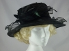 Failsworth Millinery Organza Occasion Hat in Black