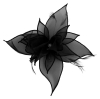 Failsworth Millinery Organza Petals Fascinator in Black