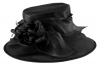 Failsworth Millinery Organza Wedding Hat in Black