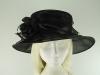 Failsworth Millinery Organza Wedding Hat in Black
