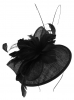 Failsworth Millinery Quills Disc Headpiece in Black