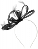 Failsworth Millinery Satin Loops Aliceband Fascinator in Black