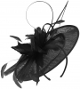Failsworth Millinery Shaped Sinamay Disc in Black