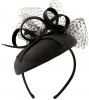 Failsworth Millinery Silk Pillbox in Black
