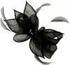 Failsworth Millinery Sinamay Diamante Clip Fascinator in Black